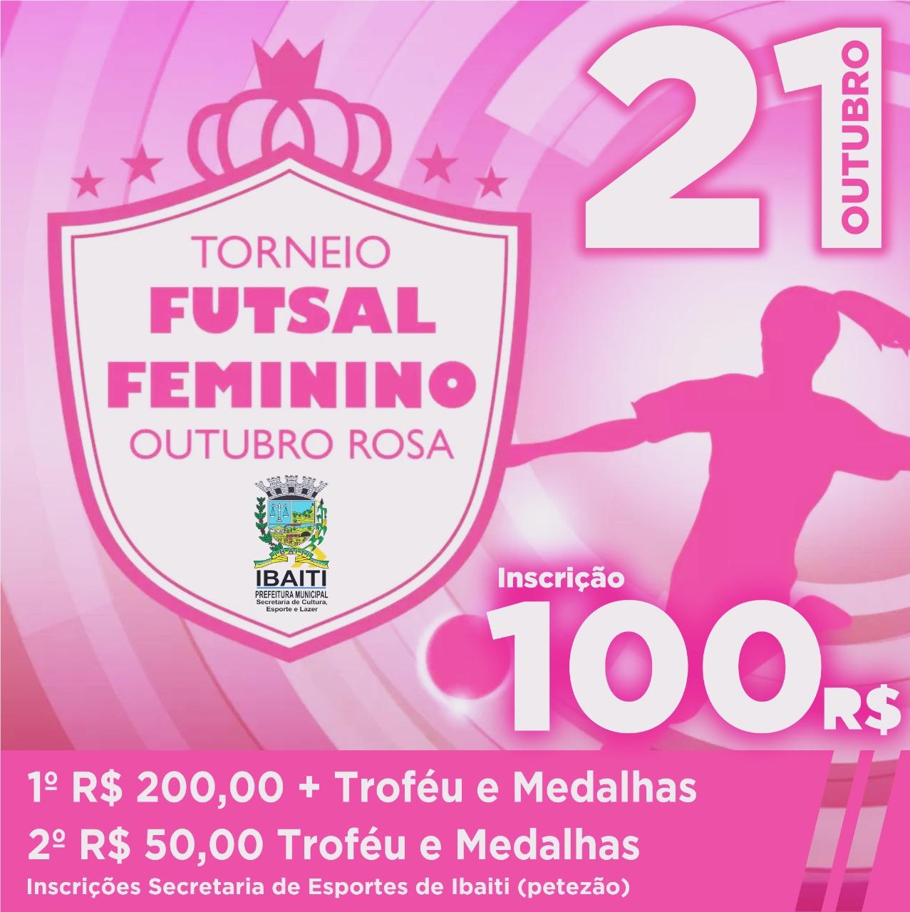 Vem aí o Torneio de Futsal Feminino Outubro Rosa ee0322621c92e
